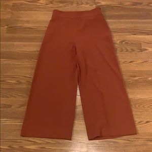 Zara SZ M Rust Orange Wide Leg Pant
